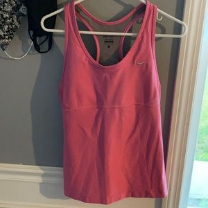 Women's Nike dry fit workout top built-in bra